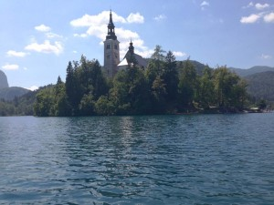 Island in the center of Lake Bled
