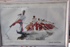 LV advertisement done on Inle Lake